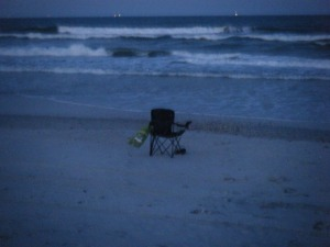 The chair I carried, but never sat in. How grateful I brought it!