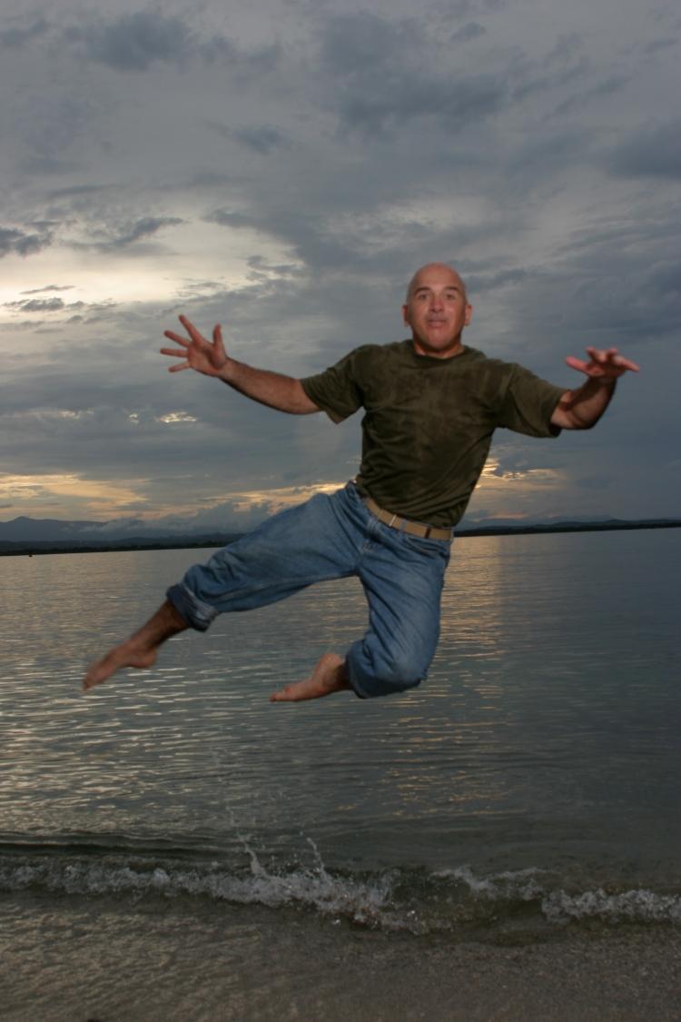 Jumping in Cuba