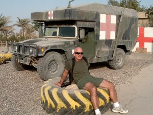 Ready for PT in Fallujah