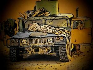 war and sleep cartoon